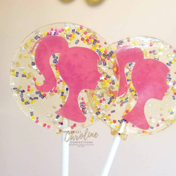 Raspberry Barbie Lollipop