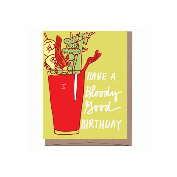 Scratch & Sniff Bloody Mary Birthday Card - Pink Julep Boutique