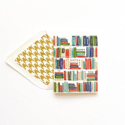 Happy Birthday Gold Foil Library Titles Card