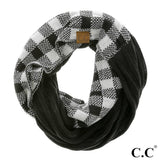 Buffalo Check Knitted Infinity Scarf - Pink Julep Boutique