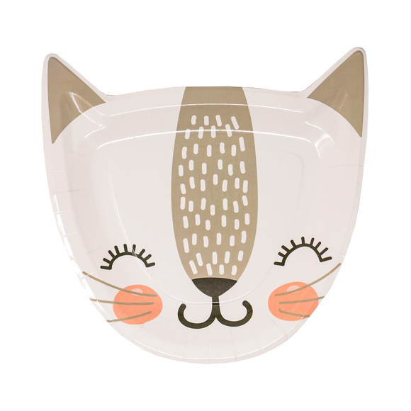 Adorable Cat Dessert Plates