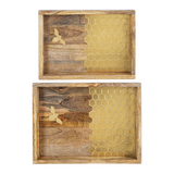 Gold Honey Comb Inlay Tray