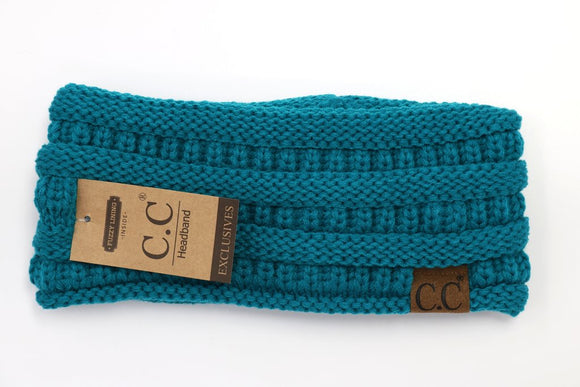 CC Ribbed Headband in Teal - Pink Julep Boutique