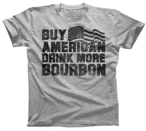 Men's Buy American Drink More Bourbon T-Shirt - Pink Julep Boutique