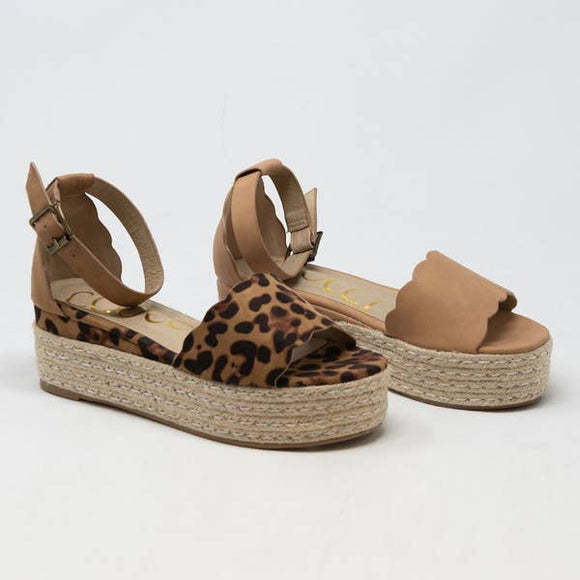 Evelyn Wedge in Leopard - Pink Julep Boutique