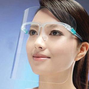 Face Shield with Glasses