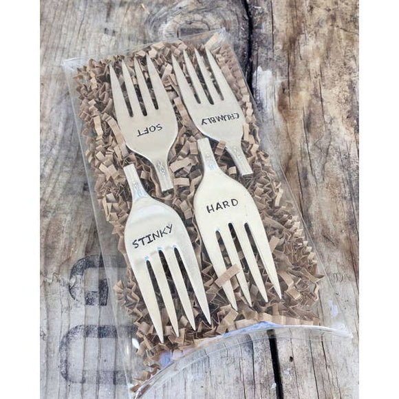Cheese Marker- Set of 4 Fork Tines - Pink Julep Boutique
