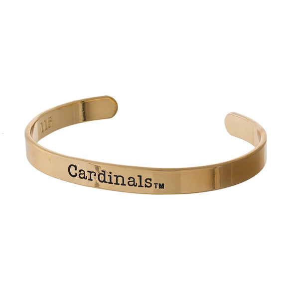 University Of Louisville Stamped Gold Cuff Bracelet - Pink Julep Boutique