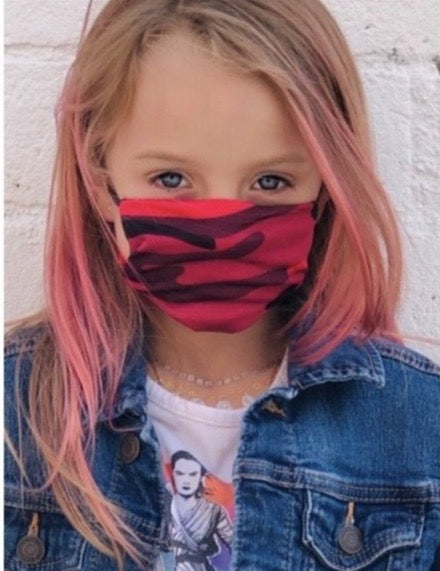 Children's Reusable Washable Face Mask 5 Color Age 4-9 - Pink Julep Boutique