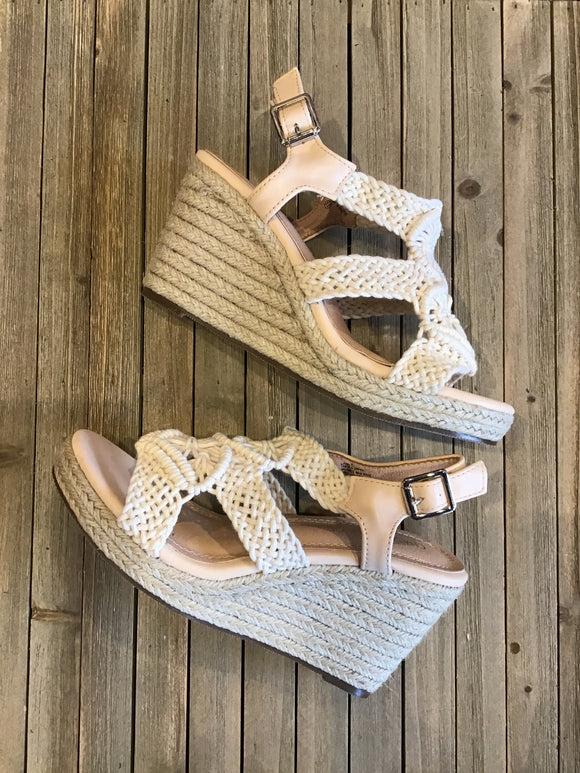 Trendy Espadrille Wedge Sandals - Pink Julep Boutique