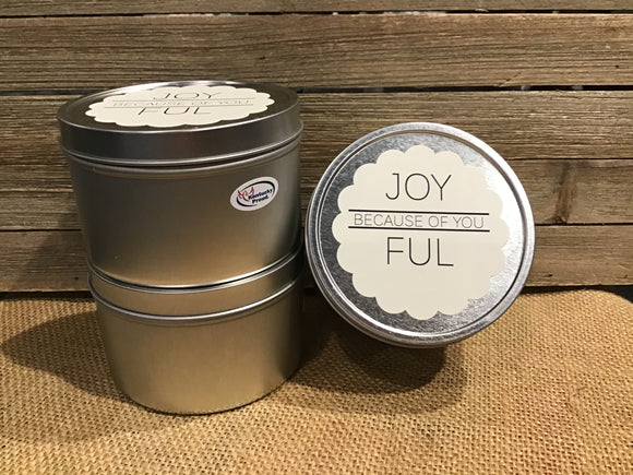 Joyful Because of You Candle 8oz