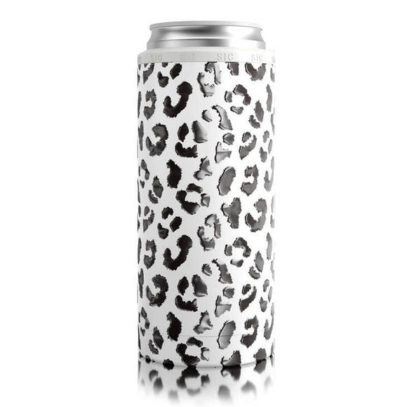 Slim Can Koozie Leopard