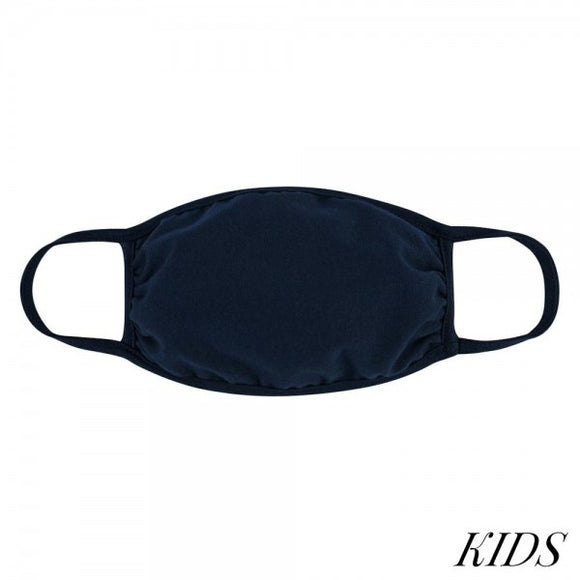 Children's Navy Face Mask Ages 5-11 In Stock Now! - Pink Julep Boutique