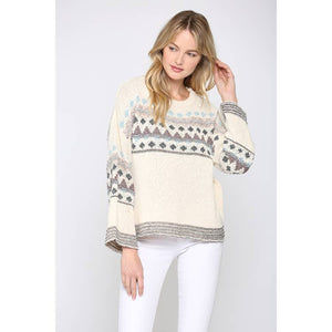 Cropped Novelty Sweater