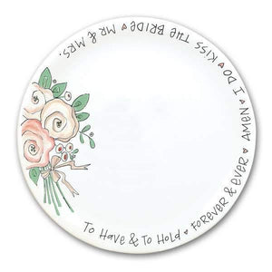 "10.5"" Wedding Plate - Pink Julep Boutique"