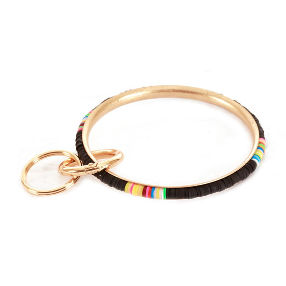 Multicolor Spacer Beaded Key Ring - Pink Julep Boutique