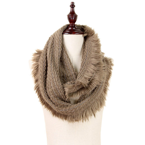 Taupe Infinity Scarf - Pink Julep Boutique