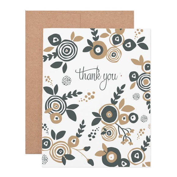 Flower Thank You Box of 6 Seeded Plantable Cards
