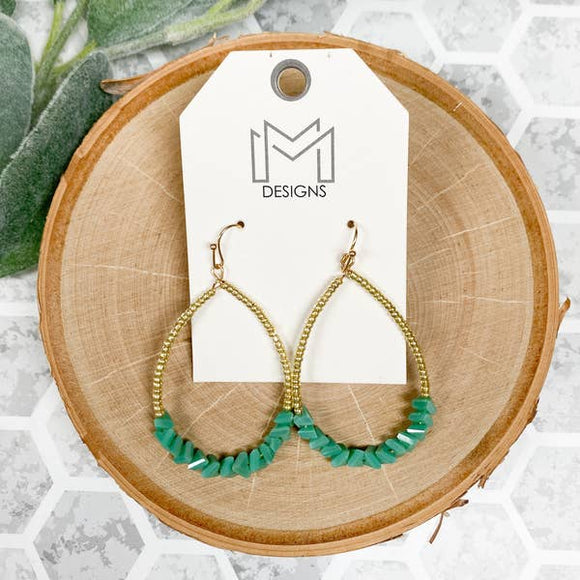 Turquoise Kassi Earrings - Pink Julep Boutique