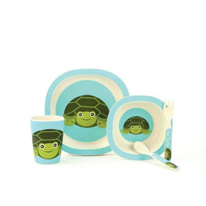 Bamboo Fibre 5-pc. Sea Turtle Kid's Dinnerware Set