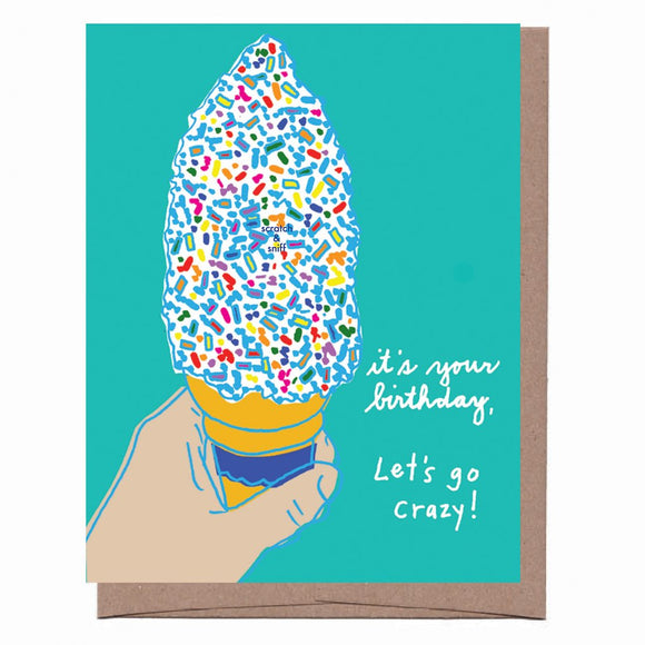 Scratch & Sniff Sprinkle Cone Birthday Card - Pink Julep Boutique