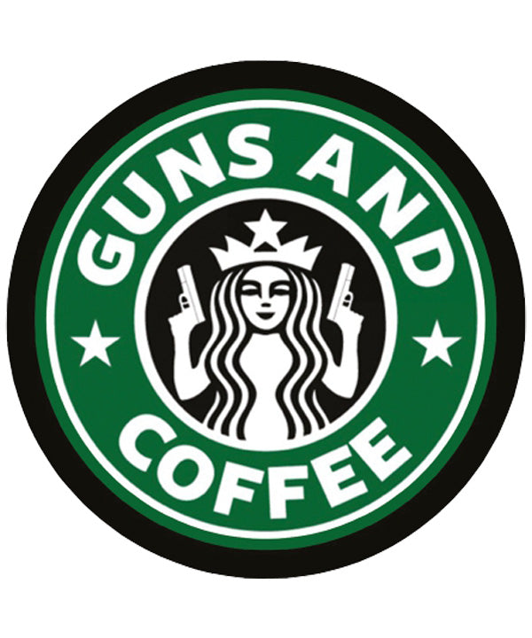 "Sticker ""GUNS AND COFFEE"""