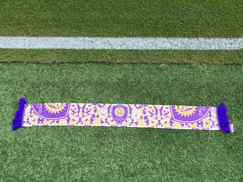 Orlando City Camo Scarf- Purple/Yellow
