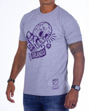 Load image into Gallery viewer, Mitchell & Ness Vamos Sugar Skull Tee - Grey