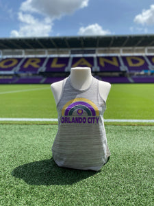 Women's Orlando City Rainbow Tank- Grey