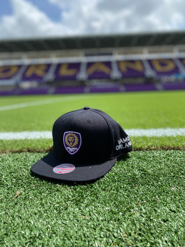 Orlando City Mitchell & Ness Vamos OC Snapback Hat- Black