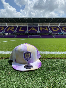 Orlando City Tiedye 950 Snapback Hat- Purple/Yellow