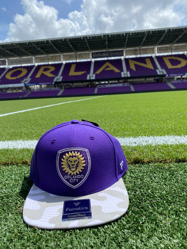 Orlando City Fanatics Branded Spring Camo Snapback Hat- Purple