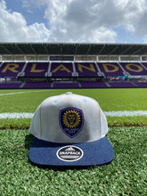 Load image into Gallery viewer, Orlando City adidas Washed Denim Snapback Hat- Blue