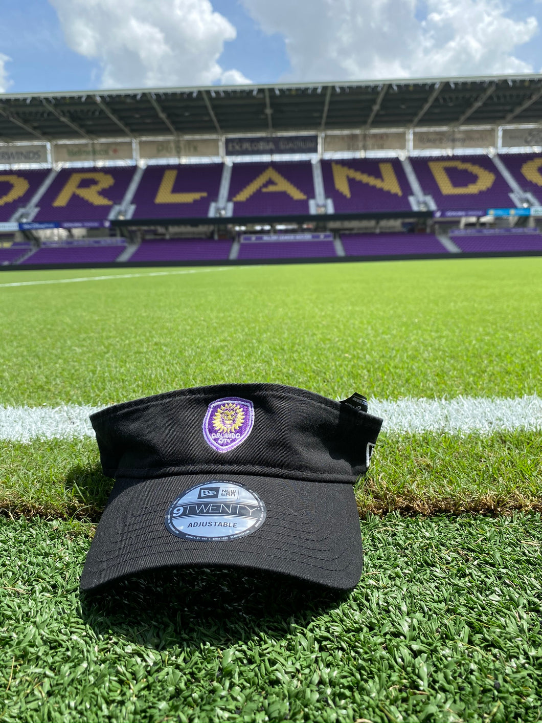 Orlando City Primary Logo Adjustable Visor- Black