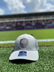 Orlando City Fanatics Branded Versalux Adjustable Hat- Grey