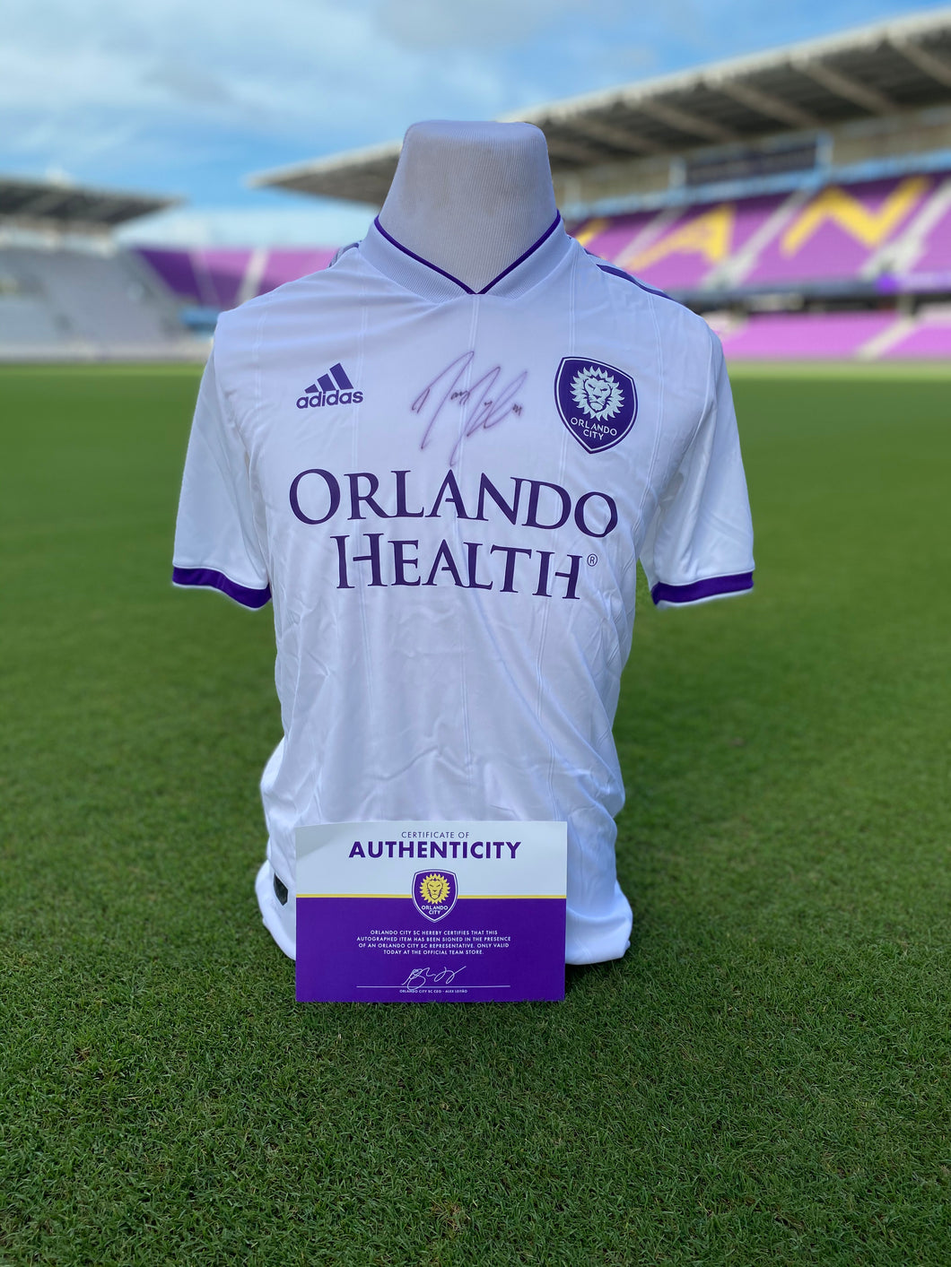 Orlando City Authentic Mens White Signed Jersey- Dwyer