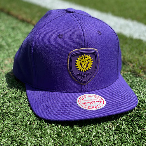 Orlando City Mitchell & Ness Zig Zag Snapback Hat- Purple