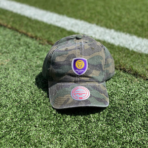 Orlando City Mitchell & Ness Camo Crest Adjustable Hat