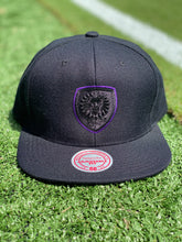 Load image into Gallery viewer, Orlando City Mitchell & Ness Tonal Snapback Hat- Black
