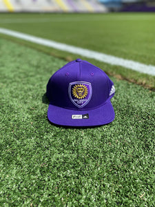 Youth Orlando City Team Solid Snapback Hat- Purple