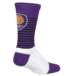 Orlando City Crest Crew Socks - Men's 9-11