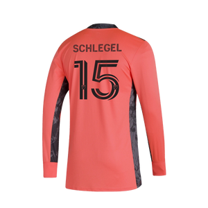 Schlegel Goalkeeper Long Sleeve Jersey- Coral