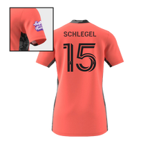 Load image into Gallery viewer, Schlegel Goalkeeper Short Sleeve Jersey- Coral