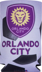 Orlando City Soccerball Can Cooler