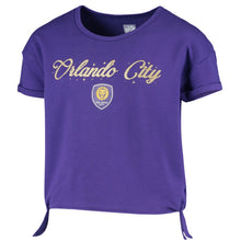 Load image into Gallery viewer, Youth (Y8) Orlando City SC Love SideTie Short Sleeve - Purple