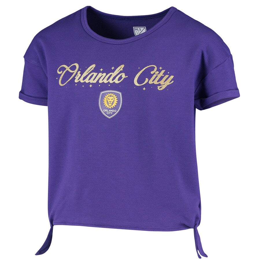 Youth (Y8) Orlando City SC Love SideTie Short Sleeve - Purple
