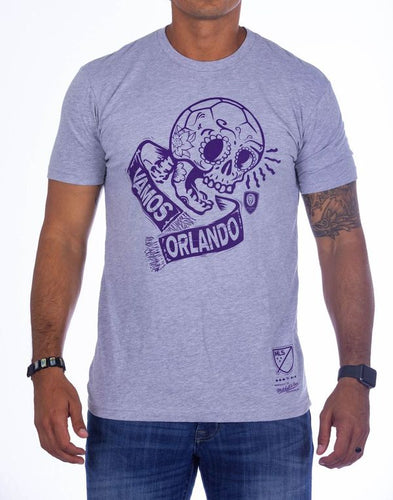 Mitchell & Ness Vamos Sugar Skull Tee - Grey