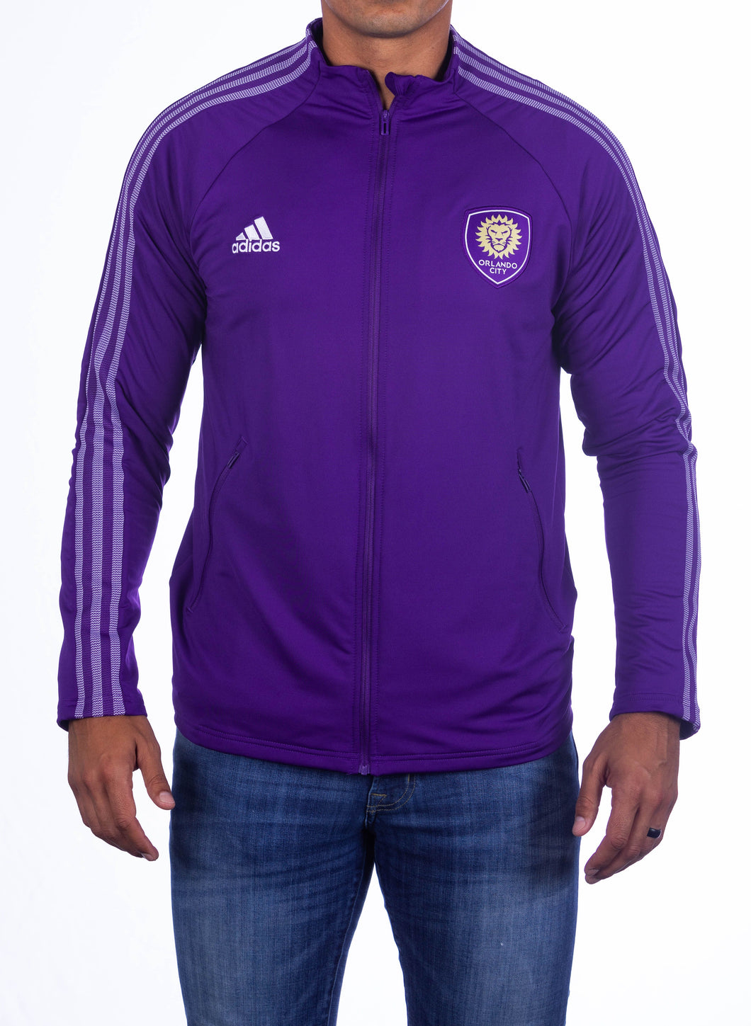 Men's Adidas Anthem Jacket - Purple
