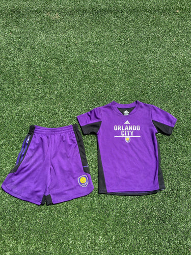 Youth & Toddler Kickoff T-Shirt/Shorts Set- Purple