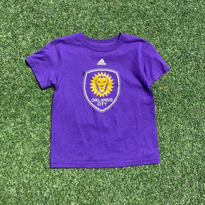 Youth (Y4) Orlando City Crest Short Sleeve- Purple